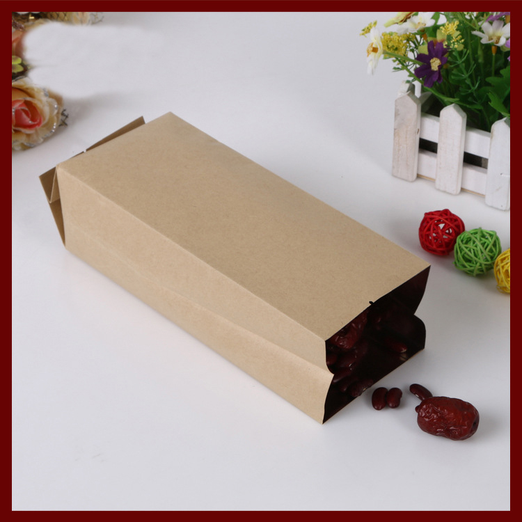 9*28+7cm 10pcs kraft paper Organ bag for gift/tea/candy/jewelry/bread Packaging Paper food bag diy Jewelry Pack Display