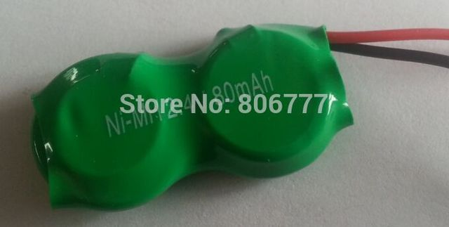 ZM NI-MH piles bouton batterie RECHARGEABLE 80H 2.4V 80mah pack fil