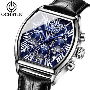 2019 New OCHSTIN Reloj Hombre Watch Men Sport Quartz Fashion Leather Clock Montre Homme Men Watch Top Brand Luxury Big Dial Busi - DISCOUNT ITEM  50% OFF All Category