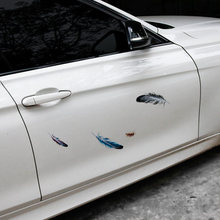 1 Set Multi-Pieces Buy 2 Get Free Car Feather Stickers Waterproof 3D Scratch Occlusion Decals Personalized Customization