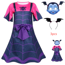 New hot Vampirina Dress For Baby Girl Costume Christmas Carnival Kid Up Lace Frock Disguise Child Cosplay Vetement Enfant Fille