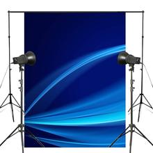 5x7ft Abstract Dark Blue Art Photography Backdrop Line Background Photo Studio Props Wall