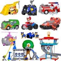 Paw patrol Patrol car Vehicles Toys Figurine Plastic Toy Action Figure model patrulla canina kids toys Combination set