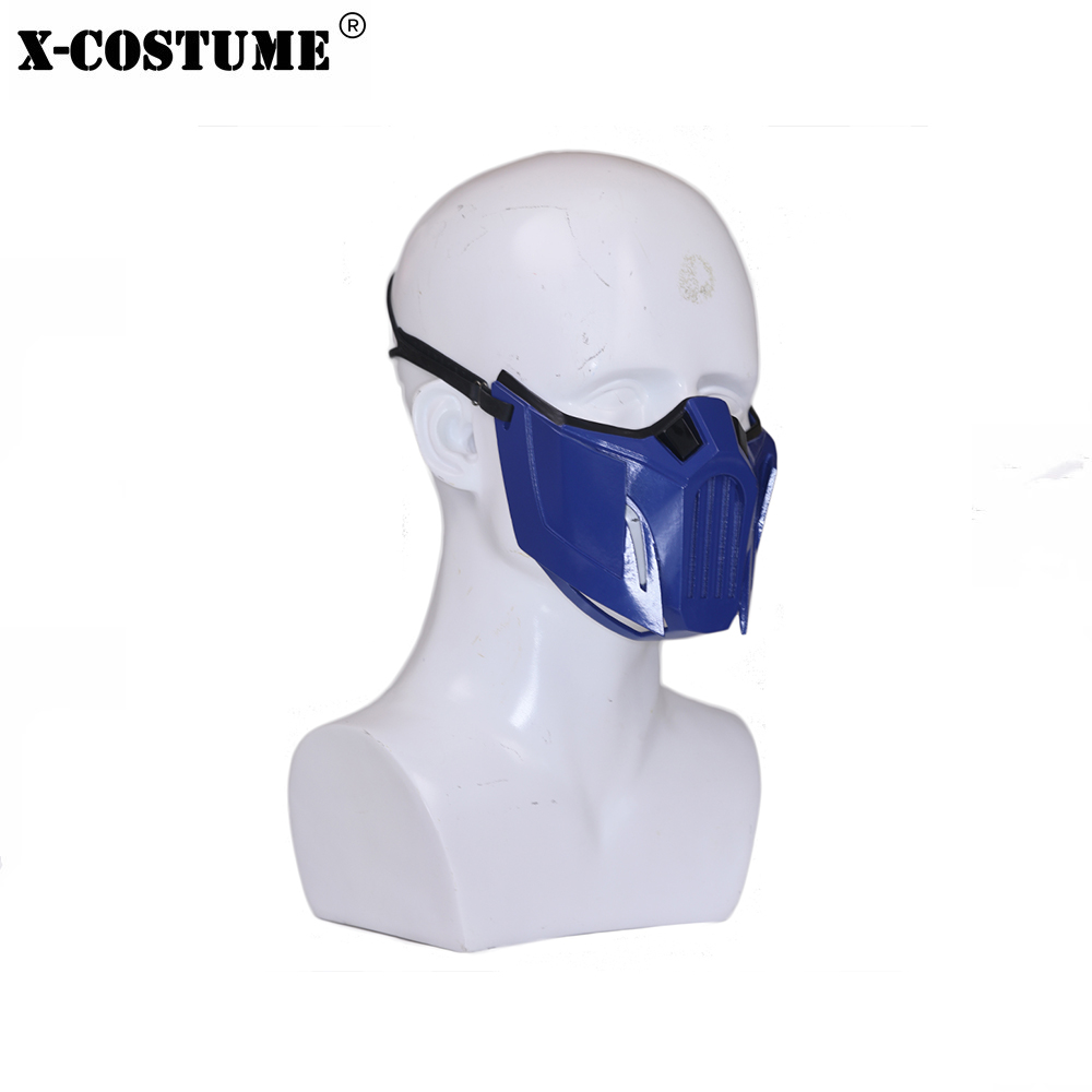Xcoser Mortal Kombat 11 Sub Zero Mask Resin Cosplay Mask Costume