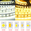 DC12V led lamp 1/5m LED strip light SMD 5050 5630 3528 3014 2835 Fita ip65/non Waterproof tape ribbon 60leds/m fita stripe 12V
