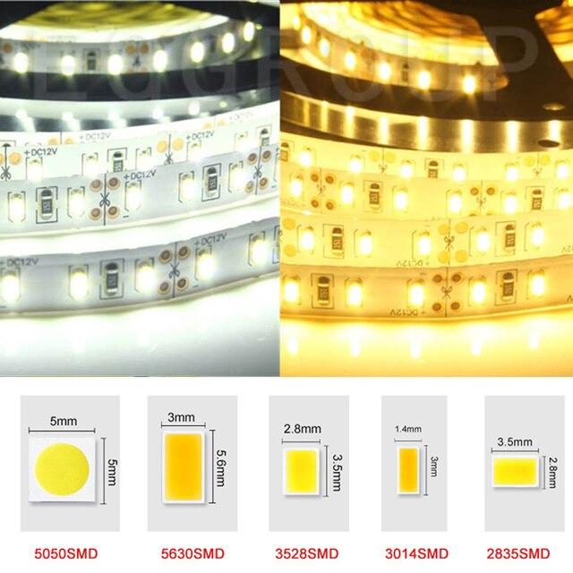 Flexible Led Light Strip 3528 Smd 12 Volt Quality Lighting: DC12V Led Lamp 1/5m LED Strip Light SMD 5050 5630 3528
