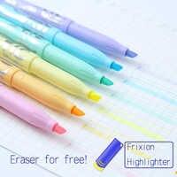 Pilot FriXion Löschbaren Marker 6 stücke Pastell Textmarker Weiche Farbe Löschbaren Stift Kawaii Briefpapier Scrapbooking Stifte Für Schule