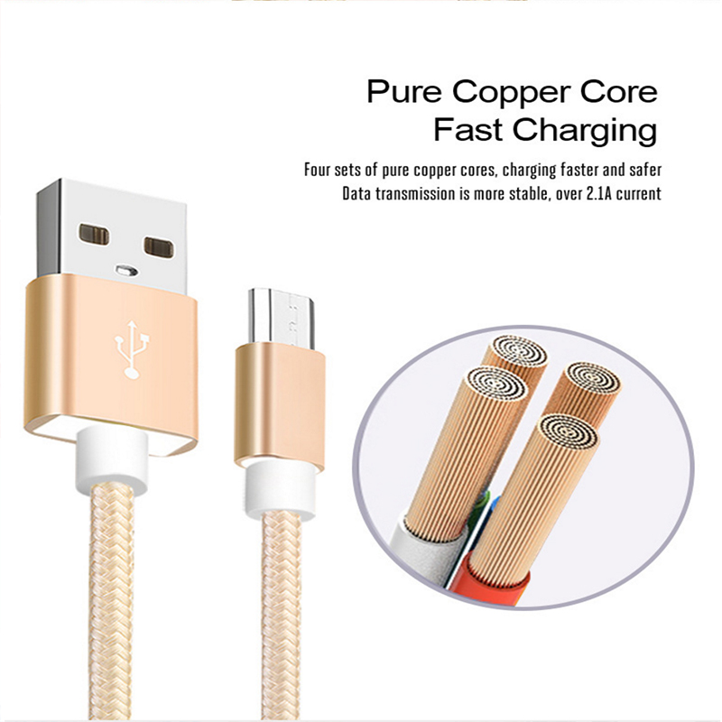 Image 4 - for xiaomi micro usb cable Nylon 2A fast charging sync data cable for xiao mi 1s/2s/3s/4s Redmi 1s/2s/3s/3X/4X/Note/2/3/4/4X-in Mobile Phone Cables from Cellphones & Telecommunications