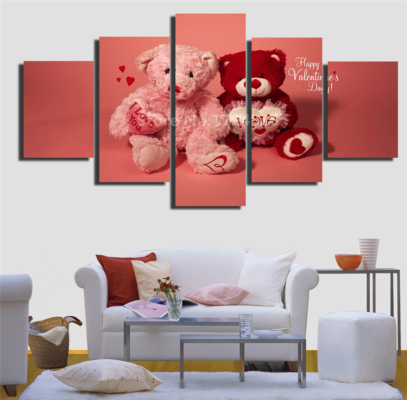 Aliexpress.com : Buy Valentine Teddy Bears Canvas Painting