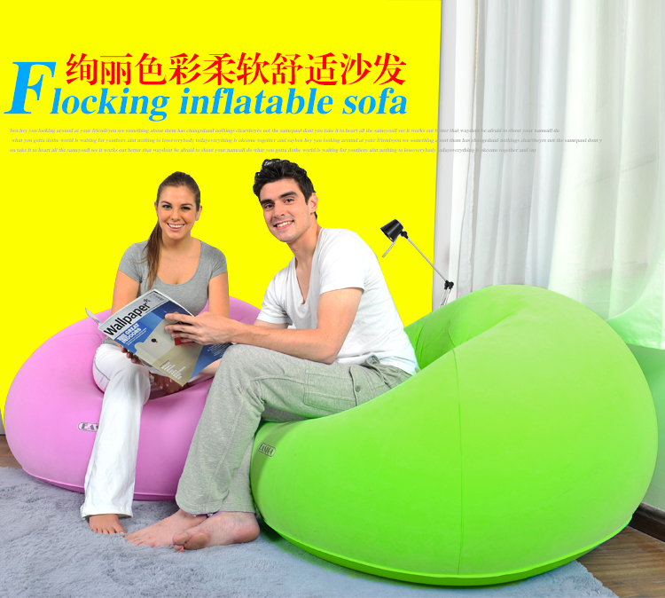 105*105*65cm Spherical Flocking Inflatable sofa One seat Recreational sofa with electric air pump Free shipping