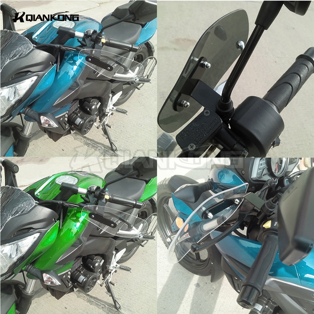R QIANKONG Clear Windshield Hand Guards Protector Wind Deflector Shield For Honda CBR600RR MSX125 MSX300 PCX150 GROM MSX 25 300