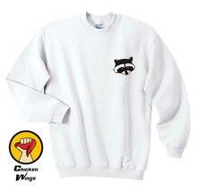 Raccoon Sweatshirt - Animal Sweatshirt- Unisex or Womans Youth Kids Child Adult Toddler Skunk Cute Mammal Zoo-D242