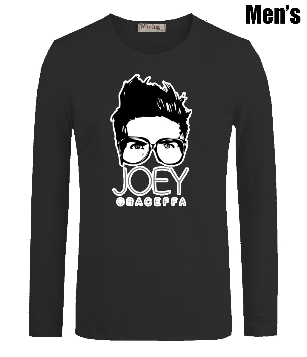 Design t shirt youtube - Lustige Youtube Promi Joey Graceffa Druck M Nner Jungen T Shirts Casual Langarm Neueste Hochwertige M Nner T