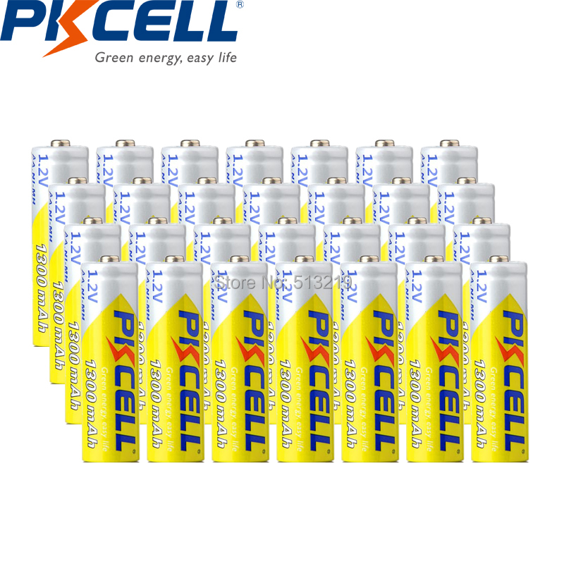 28PCS PKCELL AA battery 1300mah 1.2v NIMH rechargeable battery for digital Camera, flashlight image