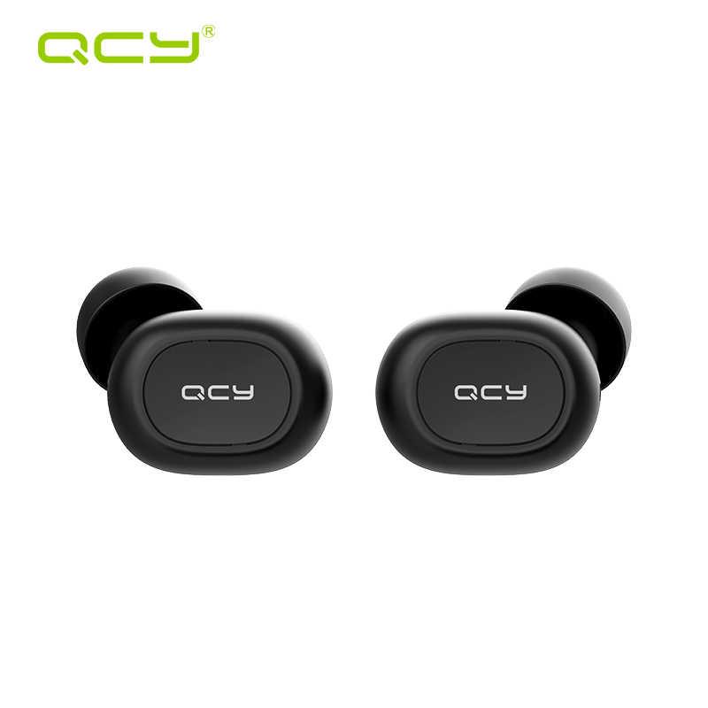 QCY QS1 T1C Mini Dual V5.0 Auricolari Senza Fili Bluetooth Auricolari 3D Suono Stereo Auricolari con Doppio Microfono e scatola di Carico