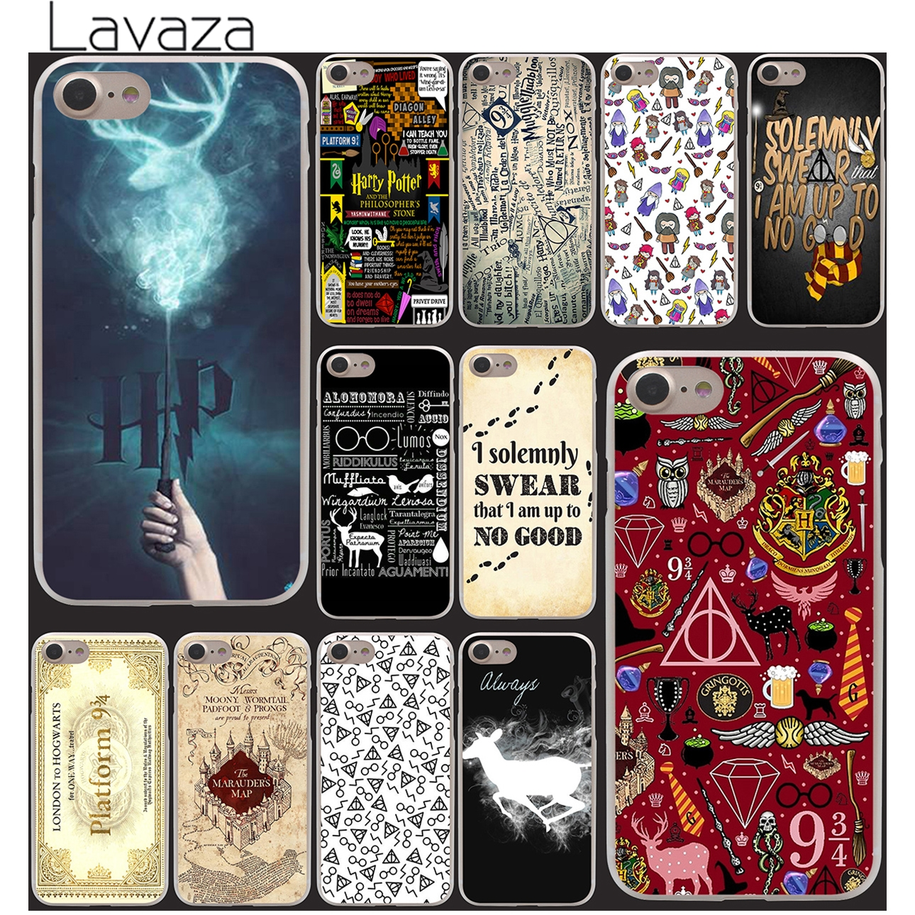 Lavaza 159U- Harry Potter Movie Poster Magic Wand Unique Hard Clear Back Cover Case for iPhone 7 7 Plus 5 5s 5g Style
