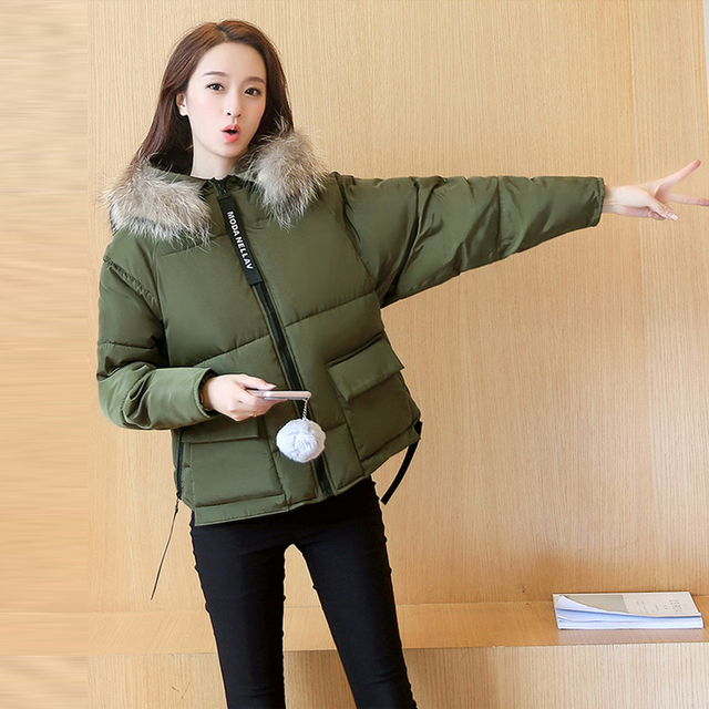 7e55096f35 Warm Winter Jackets Women Fashion Down Cotton Parkas Casual Hooded Coat  Thickening Zipper Slim Fit Army Green Yellow Grey Parka