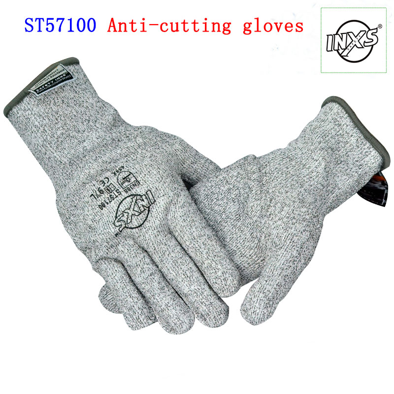цена на SAFETY INXS anti cut gloves Hemp gray BladeX guantes Corte Big yards 3 fiber knitting industrial security mechanics gloves