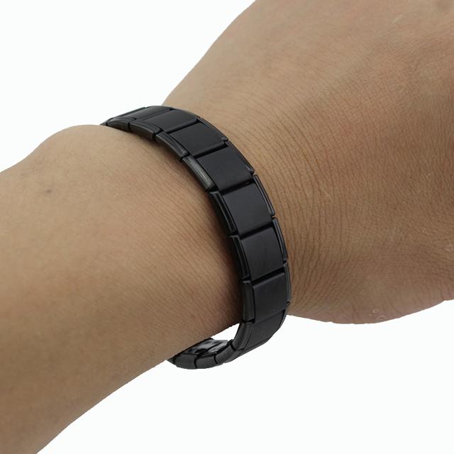 Black 80 Germanium Energy Stretch Bracelet