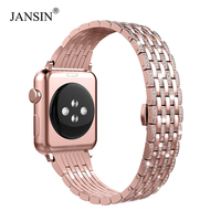 for Apple Watch Band 38mm 40mm 42mm 44mm,women Crystal Diamond Stainless Steel Strap iWatch Series 4 3 2 1 Bracelet Wristband