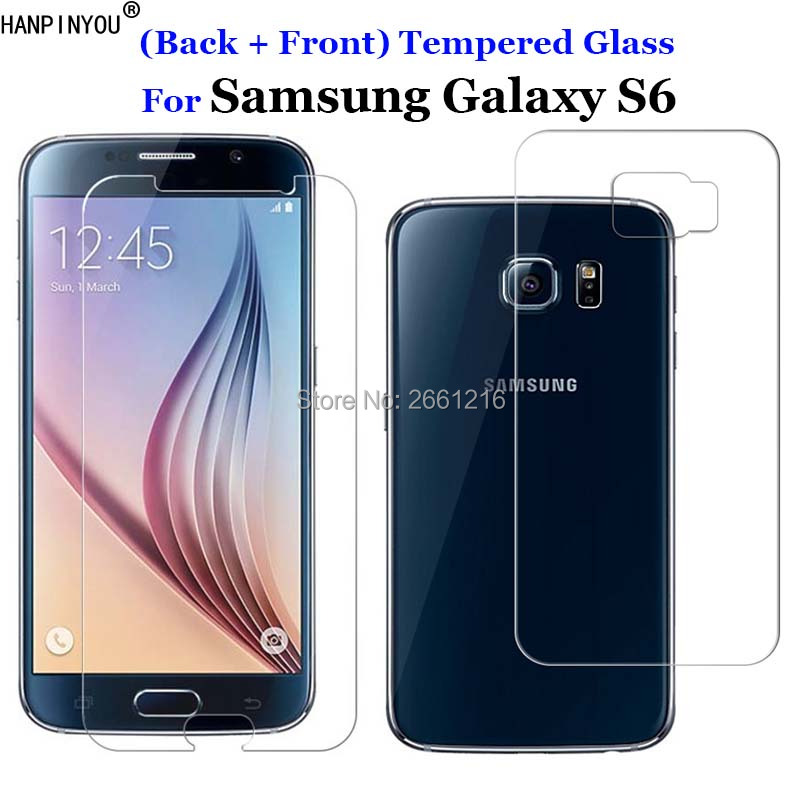 Galleria fotografica For Samsung S6 2Pcs= (Back + Front) Tempered Glass 9H 2.5D Premium Screen Protector Film For Samsung Galaxy S6 S 6 VI G9200 5.1