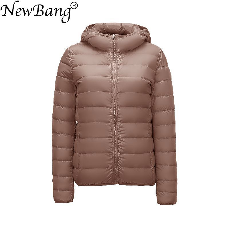 NewBang Brand Women's Down Jackets 90% Ultra Light Duck Down Women Lightweight Coat Hooded Female Windbreaker Parka Plus Coats