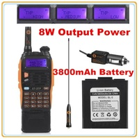 3800mAh Battery Baofeng GT 3TP MarkIII 8W Dual Band V/UHF Ham Two way Radio Walkie Talkie Transceiver