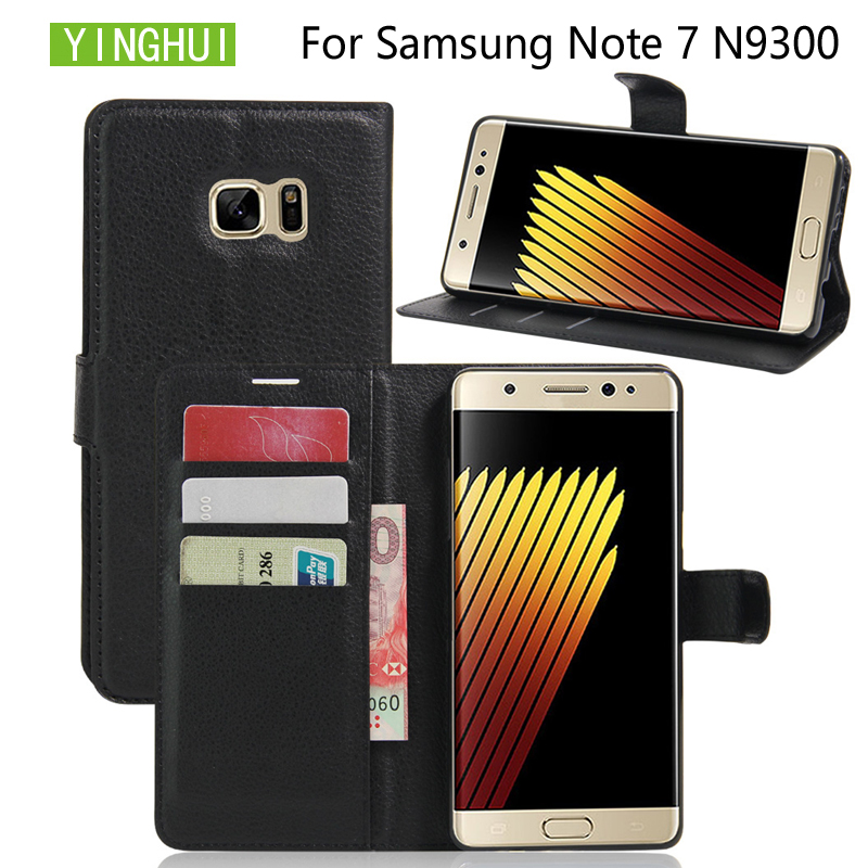YINGHUI For Samsung Galaxy Note7 PU Leather Phone Case Wallet Cover For Samsung Galaxy Note 7 Flip Stand Case Phone Bag