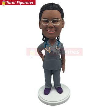 Nurse Personalized Gift Nurse Custom Bobble Head Nurse Birthday Cake Topper Nurse Wife Gift Nurse Girlfriend Gift Nurse Mother G