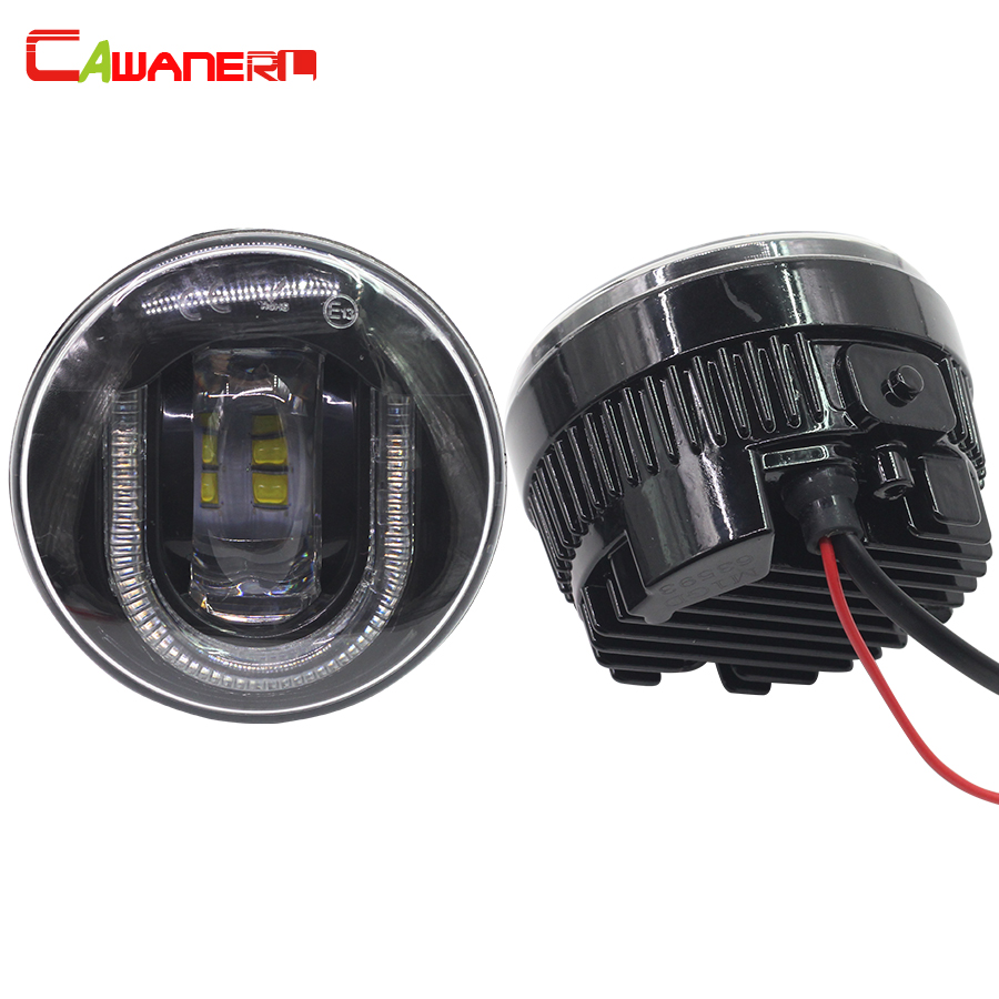 цена на Cawanerl 2 X Car LED Fog Light DRL Daytime Running Lamp High Power For Mitsubishi Pajero Grandis Outlander L200
