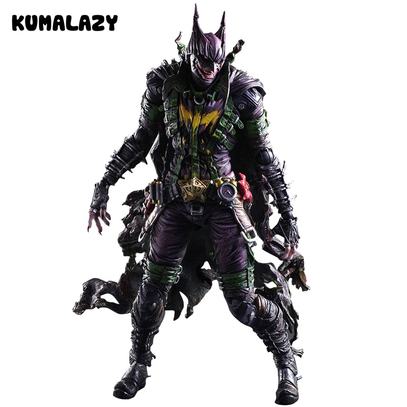 Batman Figure Gogues Gallery Joker Batman Play Arts Kai Play Art KAI PVC Action Figure Bat Man Bruce Wayne 26cm Doll Toy the avengers infinity war batman arkham knight play arts kai 27cm bruce wayne dc comics pvc action figure model toys l1060