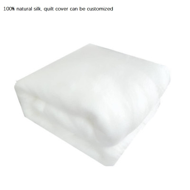 breathable warm 100 mulberry silk comforter filling without quilt cover Luxury high end core