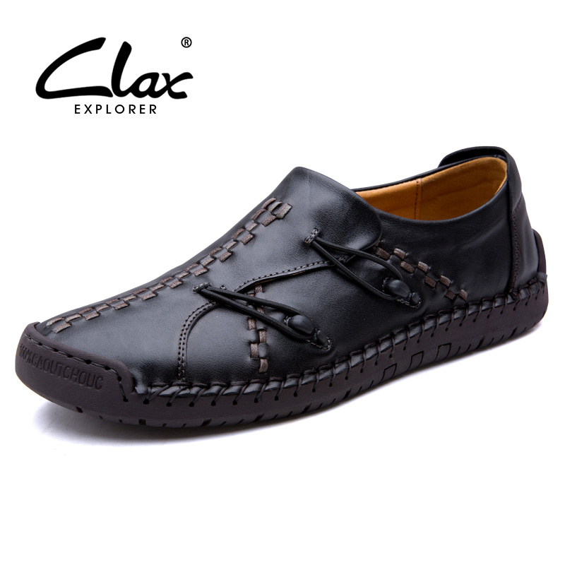 CLAX Men Autumn Shoes 2018 Designer Casual Shoe for Male Fashion Loafers Handmade Flats Footwear Soft Leisure Shoe male casual shoes soft footwear classic men working shoes flats good quality outdoor walking shoes aa20135