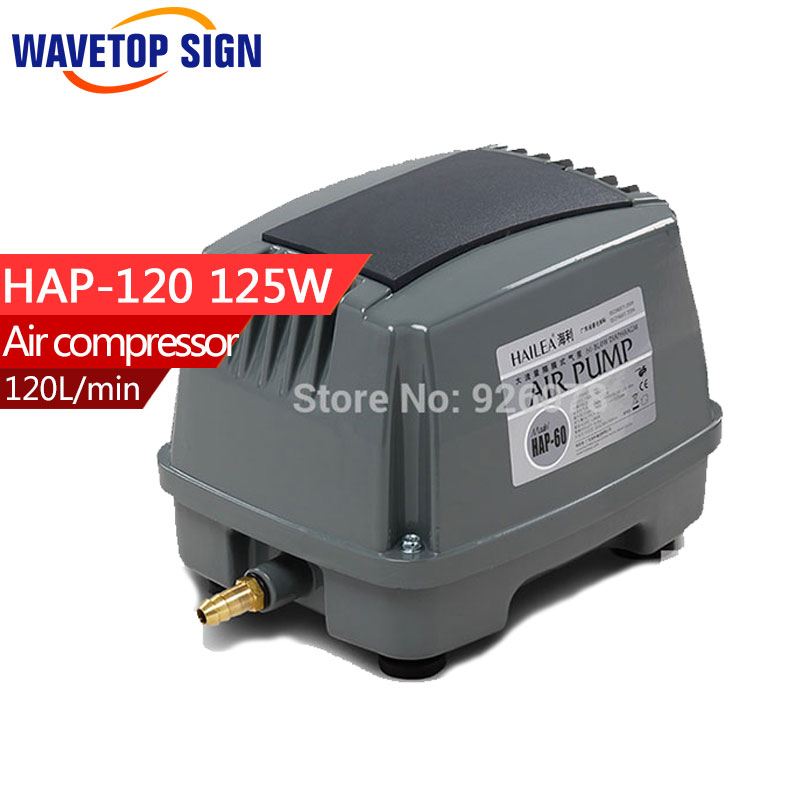 HaiLi Large fish pond flow diaphragm pump HAP-120 125w 220v aerator pump fish aerator biochemical diaphragm aerator for wastewater treatment rubber diaphragm with epdm diameter size 215mm