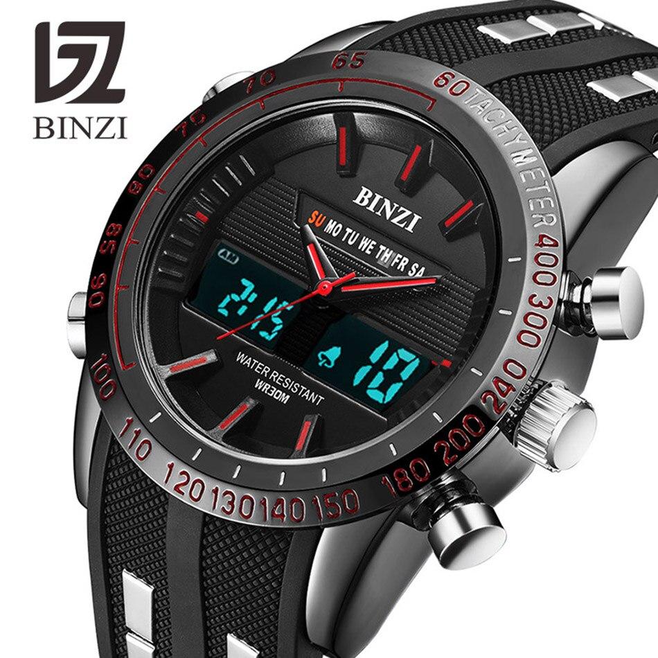 Двойной Дисплей часы несколько раз зоны подсветки цифровой Военные Спортивные часы Для мужчин Будильник наручные часы Relogio Masculino
