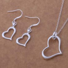 AS152 Hot 925 sterling silver Jewelry Sets Earring 171 + Necklace 273 /biqajzxa agqaixxa(China)