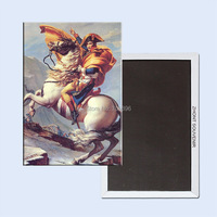 Metal Wrapped Magnets Free Shipping Home Decor Stickers,Napoleon crossing the Alps Magnet 5732 Wholesale accept