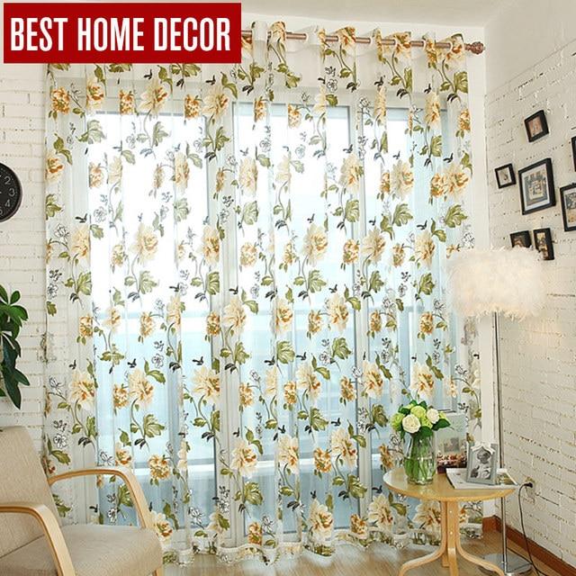 Best decorazioni per la casa tende sheer tende della finestra per soggiorno camera da letto cucina moderna tende di tulle trattamento di finestra tende