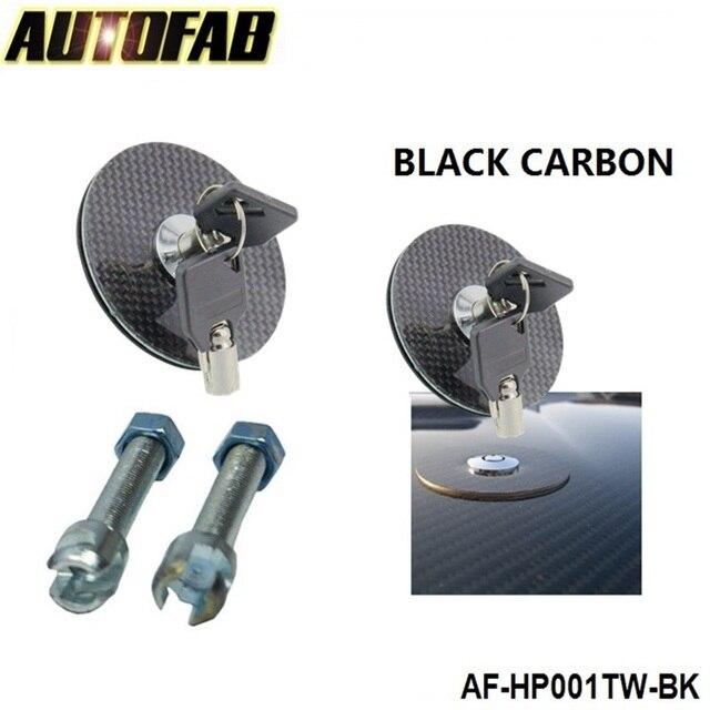 (Fiber de carbone noire) serrure affleurante de capot avec le bâti Variable principal pour Honda Civic Jdm 2004-2005 AF-HP001TW
