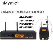 Prawdziwa różnorodność UHF 122 G3 bezprzewodowy system mikrofonowy + Bodypack + zestaw słuchawkowy + Lapel Lavalier Mic na scenie DJ