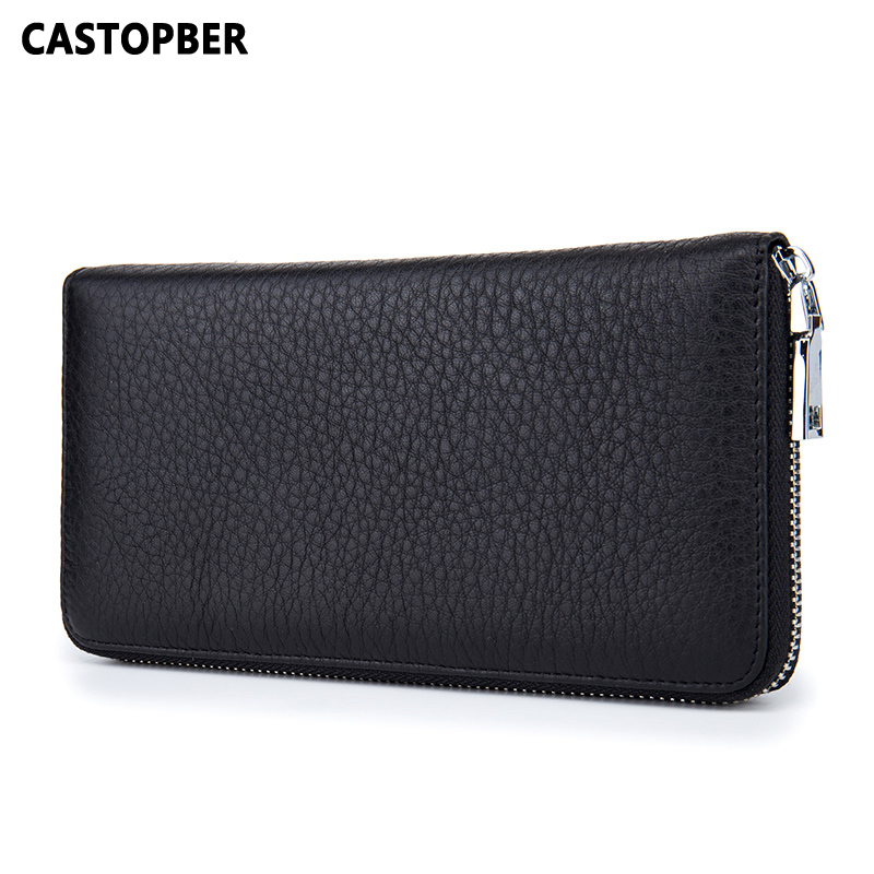 Men Wallet Genuine Leather Cowhide Solid Wallets For Male 2017 New Arrival Business Day Clutches Long Purse High Quality Famous kavis men long wallets genuine leather luxury brand designer purse men first layer cowhide men day clutches bag