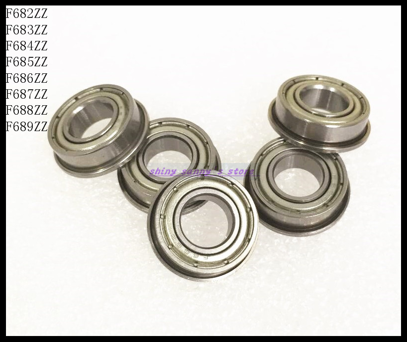 30pcs/Lot F686ZZ F686 ZZ 6x13x5mm Flange Bearing Thin Wall Deep Groove Ball Bearing Mini Ball Bearing Brand New 30pcs lot f689zz f689 zz 9x17x5mm flange bearing thin wall deep groove ball bearing mini ball bearing
