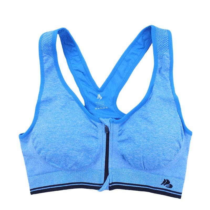 B.BANG Women's Bras Zipper Front Push Up Bra Shakeproof Intimate Crop Top Seamless Underwear Free Shipping 21