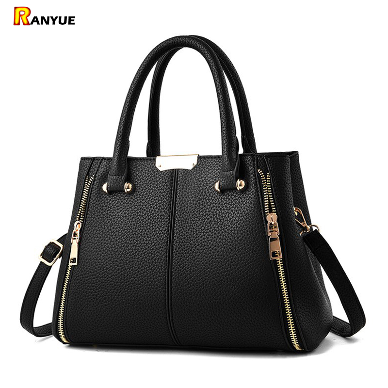 Double Zipper Women Bag Fashion Women Leather Handbags Luxury Brand Crossbody Bags For Women 2018 Large Capacity Tote Bag Bolsas aosbos fashion portable insulated canvas lunch bag thermal food picnic lunch bags for women kids men cooler lunch box bag tote