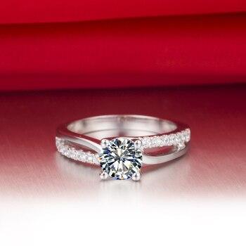 Solid Platinum 1CT Diamond Engagement Ring  5
