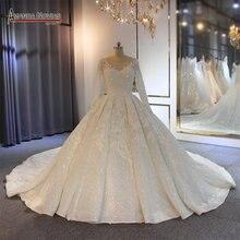 Robe de mariée à manches longues, robe de mariée personnalisée, modèle 2020