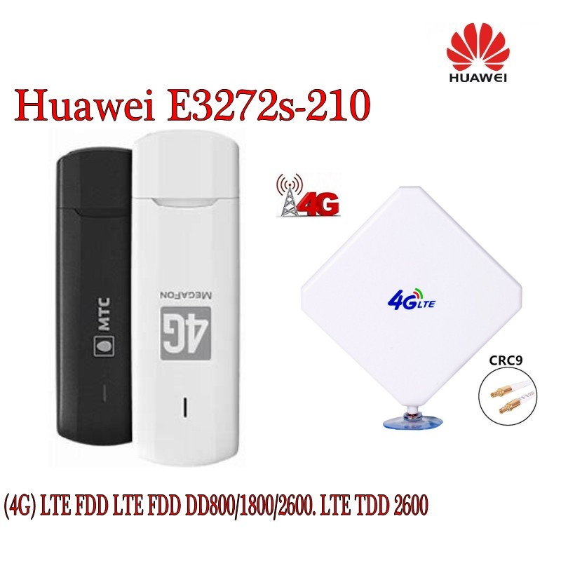 Unlocked Huawei E3272s-210 Cat4 4G LTE 150Mbps USB Stick Dongle Moible Broadband plus 4g antenna new huawei e398 4g lte speed surf stick modem dongle 100mbps e398u 1 4g 49dbi ts9 antenna