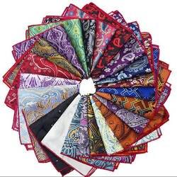 Лидер продаж джентльмен Пейсли цветок полиэстер шелковый платок Для мужчин Жених карман квадратный носовой платок свадебные праздничный