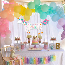 PATIMATE Unicorn Bunting DIY Banner Party Theme Decoration Birthday Baby Shower Decor Bedroom