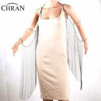 CHRAN Brand Shoulder Chain Arm Accessories Silver Plated Women Tassels Wing Design Jewlery Sexy Women Full